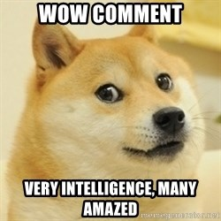 Dogeeeee - wow comment very intelligence, many amazed