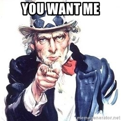 Uncle Sam - you want me