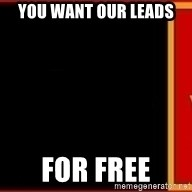 tui ad - You want our leads For free