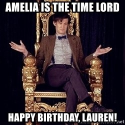 Hipster Doctor Who - Amelia is the Time Lord Happy birthday, Lauren!