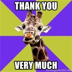 Photoshop Artist Giraffe - Thank you very much