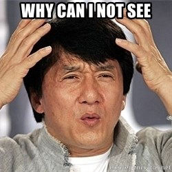 Jackie Chan - why can i not see