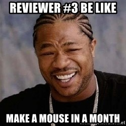XZIBITHI - Reviewer #3 be like   Make a mouse in a month