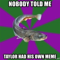 Judgemental Catfish - Nobody told me taylor had his own meme