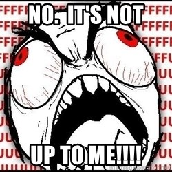 Rage Face - NO.  It's NOT UP TO ME!!!!
