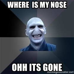 crazy villain - where  is my nose  ohh its gone