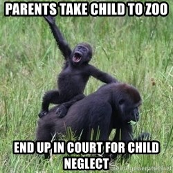 Happy Gorilla - parents take child to zoo end up in court for child neglect