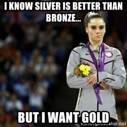 unimpressed McKayla Maroney 2 - I know Silver is better than Bronze... But I want Gold