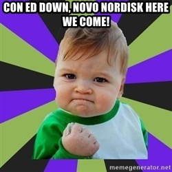 Victory baby meme - Con ED down, Novo Nordisk here we come!