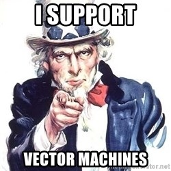 Uncle Sam - I SUPPORT VECTOR MACHINES