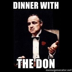 The Godfather - Dinner With The Don