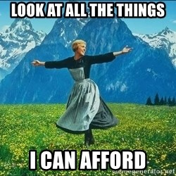 Look at all the things - LOOK AT ALL THE THINGS I CAN AFFORD