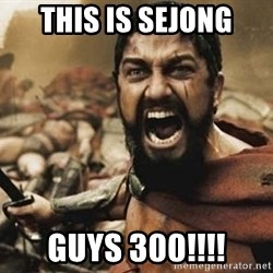 300 - This is Sejong Guys 300!!!!