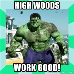 THe Incredible hulk - High woods work good!