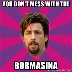 zohan - you don't mess with the  bormasina
