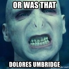 Angry Voldemort - OR WAS THAT Dolores Umbridge
