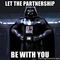 Darth Vader - let the partnership be with you