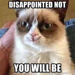 Happy Grumpy Cat 2 - Disappointed not you will be
