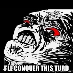 Rage Face -  I'll conquer this turd