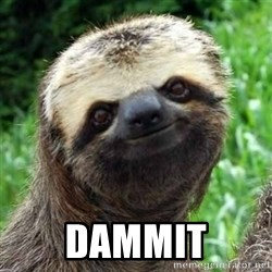 Sarcastic Sloth -  Dammit