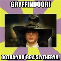 Harry Potter Sorting Hat - gryffindoor! gotha you´re a slytheryn!