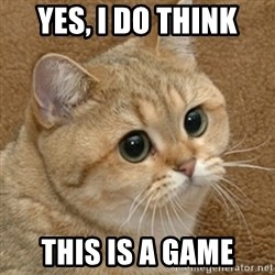 motherfucking game cat - Yes, I do think this is a game