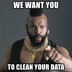 Mr T Fool - WE WANT YOU TO CLEAN YOUR DATA