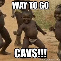 Success African Kid - Way To Go  Cavs!!!