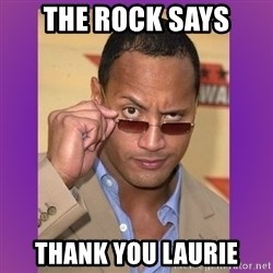The Rock Cooking - the rock says thank you Laurie