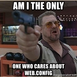 WalterGun - Am i the only one who cares about web.config