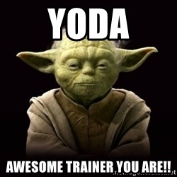 ProYodaAdvice - YODA Awesome trainer you are!!