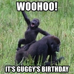 Happy Gorilla - WOOHOO! IT'S GUGGY'S BIRTHDAY