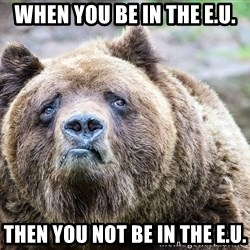B e a r - when you be in the e.u. then you not be in the e.u.