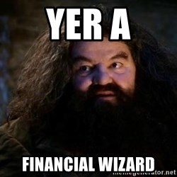 Yer A Wizard Harry Hagrid - yer a financial wizard