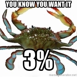 Boss Crab - You know you want it 3%