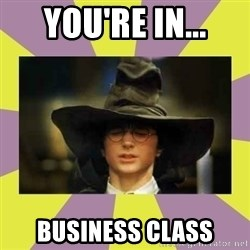 Harry Potter Sorting Hat - You're in... Business Class