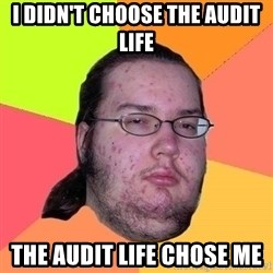 Gordo Nerd - I DIDN'T CHOOSE THE AUDIT LIFE THE AUDIT LIFE CHOSE ME