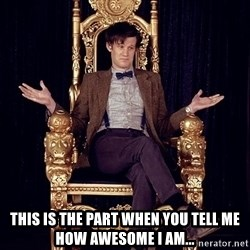 Hipster Doctor Who -  this is the part when you tell me how awesome i am...