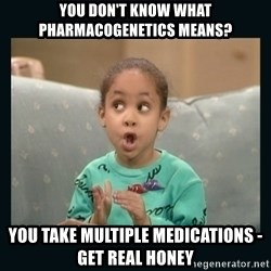 Raven Symone - you don't know what pharmacogenetics means? you take multiple medications - get real honey