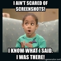 Raven Symone - I ain't scared of screenshots! I know what I said.                          I was there!