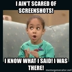 Raven Symone - I ain't scared of screenshots! I know what I said! I was there!