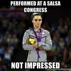 Unimpressed McKayla Maroney - Performed at a salsa congress not impressed