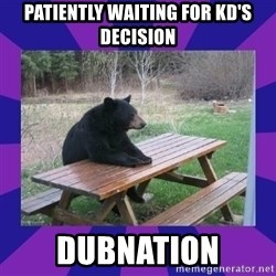 waiting bear - Patiently waiting for KD's Decision Dubnation