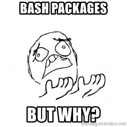 WHY SUFFERING GUY 2 - Bash packages But why?