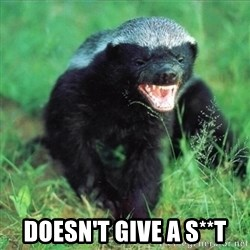 Honey Badger Actual -  Doesn't give a s**t