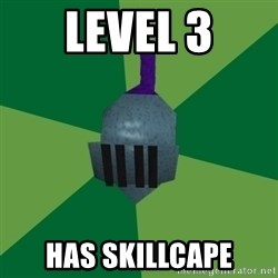 Runescape Advice - Level 3 has skillcape