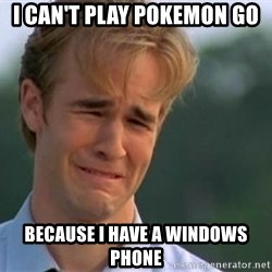 James Van Der Beek - I can't play Pokemon Go because i have a windows phone