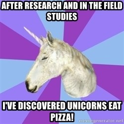 ASMR Unicorn - AFTER RESEARCH AND IN THE FIELD STUDIES I'VE DISCOVERED UNICORNS EAT PIZZA!