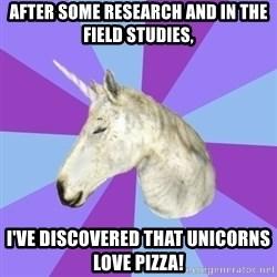 ASMR Unicorn - AFTER SOME RESEARCH AND IN THE FIELD STUDIES, I'VE DISCOVERED THAT UNICORNS LOVE PIZZA!