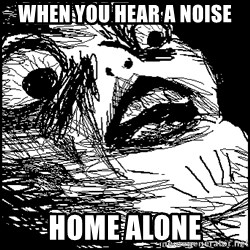 Surprised Chin - WHEN YOU HEAR A NOISE HOME ALONE